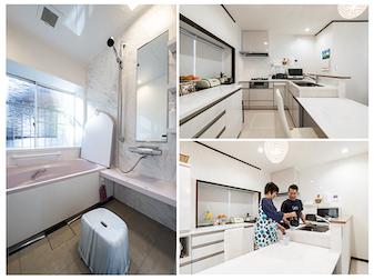 キッチンもお風呂も快適になっ て、帰宅するたびに笑顔が溢れます。