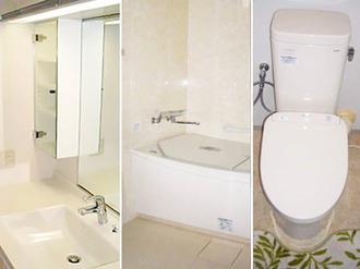 浴室・トイレ・洗面の3点リフォームで きもちのよい水まわりに!