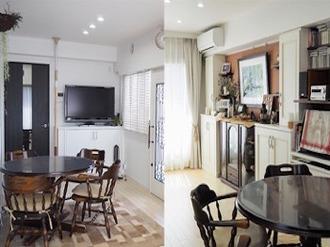 思い出のアイテムが集まるリビング家具を造作!家族の温もりをいつも側で感じられる空間に