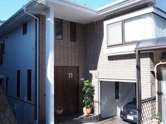 外壁はシリコン塗料、屋根は遮熱塗料を使った細部までこだわった塗装です。